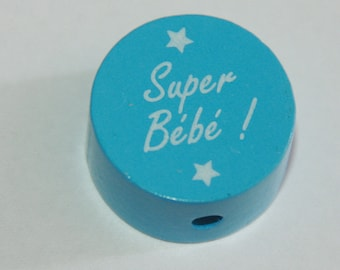 "Wooden bead ""Super bebe"""