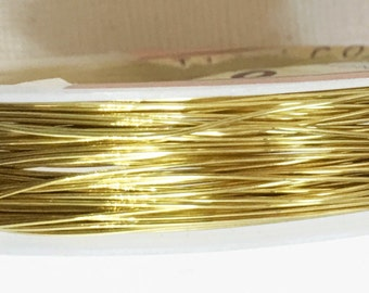 25ft spool of Copper beading wire 24 gauge Raw brass color
