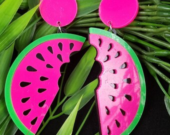 Watermelon- Hand Made Earrings