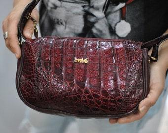 Vintage CALECHE monogram leather bag , messenger bag ....(261)