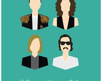 The Killers Band Members Print