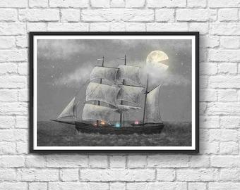 Art-Poster 50 x 70 cm - Pacman - Ghost Ship