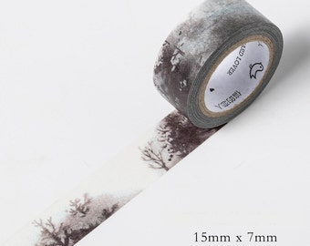 Winter Forest Washi Tape Adhesive Masking Diy Scrapbooking Diary Planner Tape