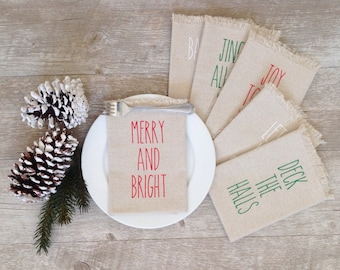 Christmas Napkins Cloth Christmas Napkins Holiday Linen Napkins Dining Serving Home Decor Tabletop Christmas Tablescape Christmas Dinner