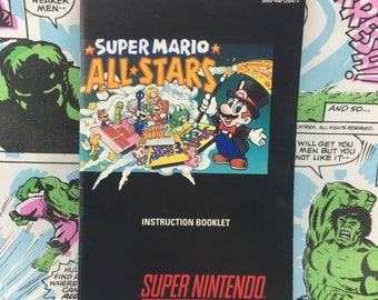 Original Super Mario All-Stars Manual