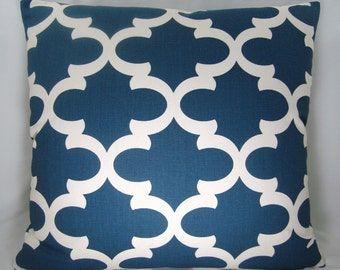 Blue Pillow Fynn Pillow Modern Pillow Decorative Pillow Accent Pillow 18x18 pillow