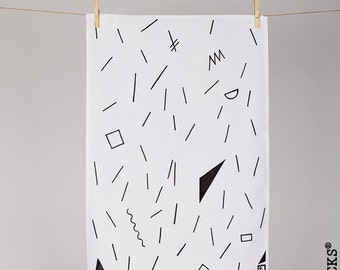 Woolocks® Graphic Lines Tea Towel