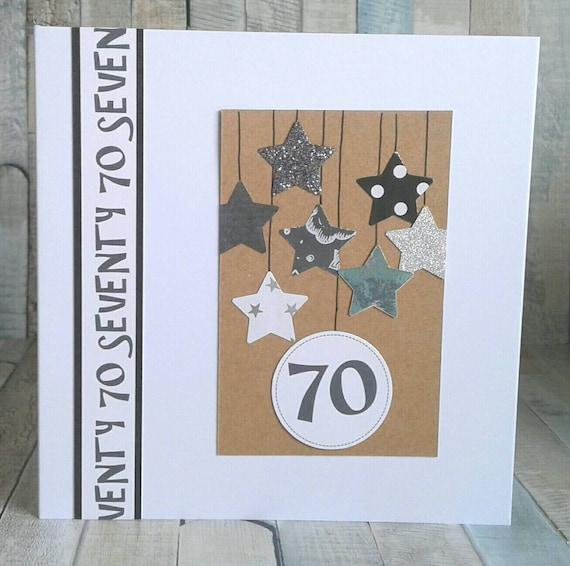 70th BIRTHDAY CARD Card For Birthday Cards Him