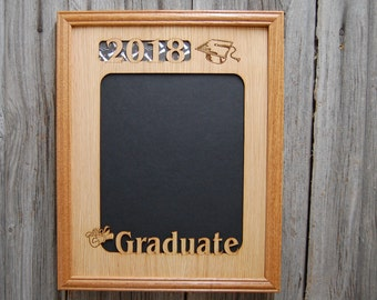 11x14 2018 Graduation Picture Frame, High School College Graduation Gift, 2018 Graduate, Personalized Gift, Laser Engraved Frame