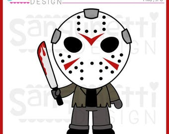 Jason clipart, Friday the 13th, Horror clipart, Halloween clipart, JPG, PNG, commercial use, Instant download