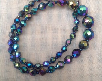 Vintage 1950's Carnival Beaded Necklace