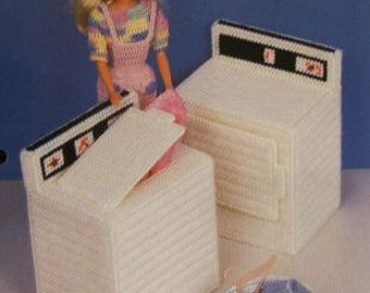 Plastic Canvas Barbie Fashion Doll Pattern WASHER & DRYER Laundry Duo
