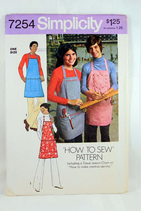 Simplicity 7254 Apron Sewing Pattern Men\'s Apron