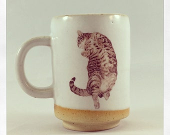 Dance On- Push Push the Cat espresso cup