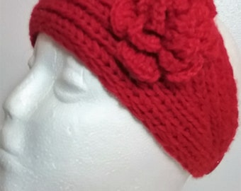 Headband Ear Warmer with Irish Rose Accent