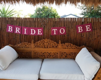 Handmade BRIDE TO BE Hessian/Burlap Hanging Decoration for a Hen's Party