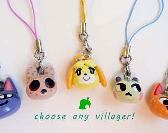 Animal Crossing どうぶつの森 You Choose Any Villager Custom Head Charm Keychain