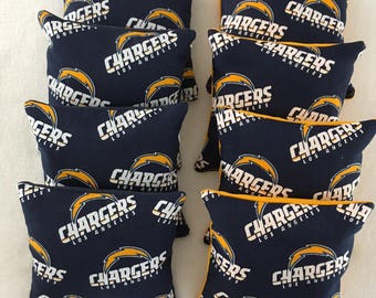 Los Angeles Chargers corn hole bags set of 8