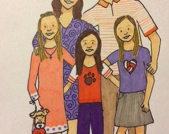 Custom Family Portrait 1