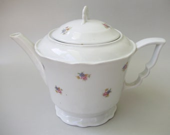Vintage ,1930's,Hungarian Zsolnay  porcelain tea pot Antique Hungarian Zsolnay porcelain teapot,stamped