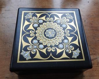 Modernist Carlton Ware Hand Painted Porcelain Box