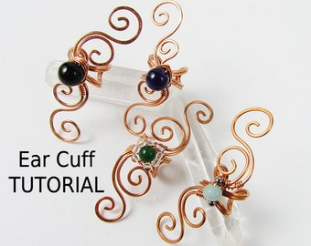 Swirly Ear Cuff - Wire Wrapped Jewelry Making TUTORIAL