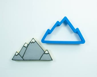 Mountain Range Cookie Cutter | Mountain Cookie Cutter | Hiking Cookie Cutter | Outdoor Cookie Cutter | Nature Cookie Cutter