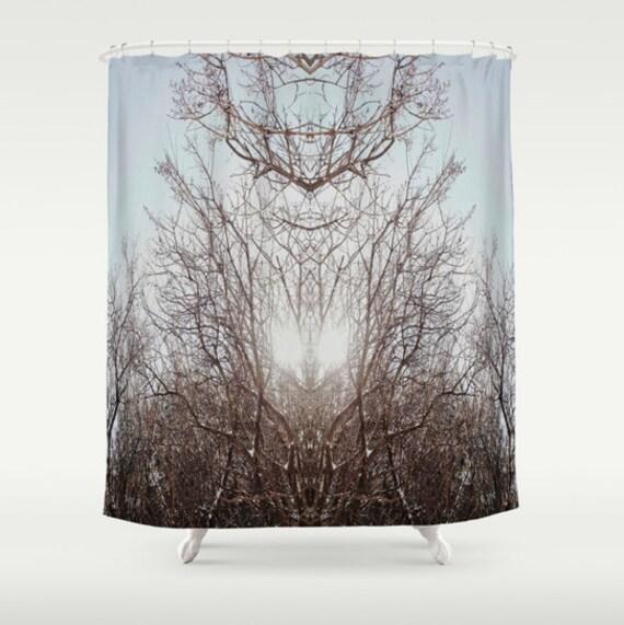 Elegant Winter Sun Shower Curtain
