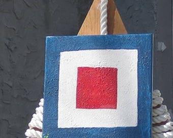 "Signal Flag ""W"" nautical print"