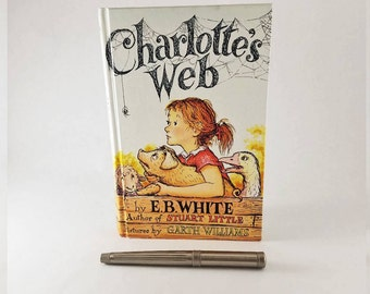 Recycled Vintage Book Journal | Charlotte's Web Journal | Charlotte's Web Recycled Notebook | Blank Journal | Gift for Book Lover | Diary