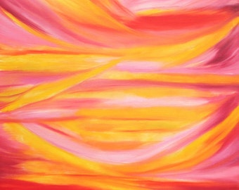 Pink and orange Sky-16 x 20 oil on canvas