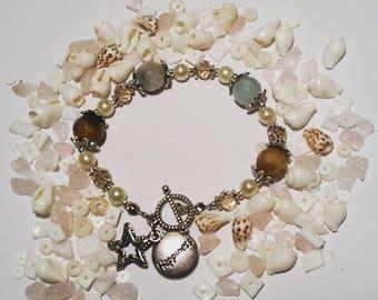 lovely elegant gift bracelet with amazonite gemstones