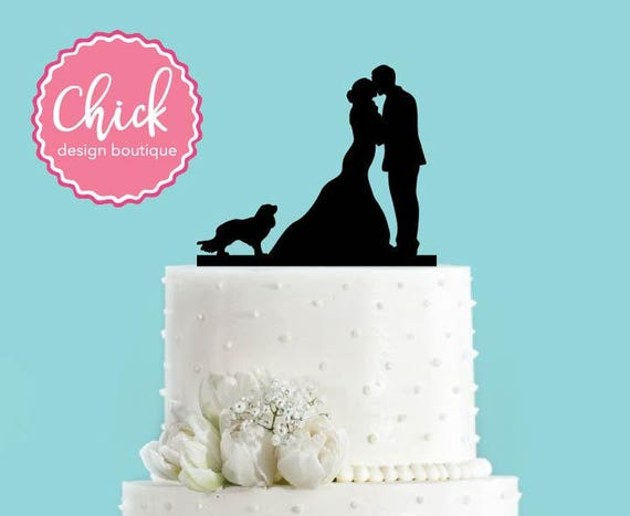 Wedding Cake Topper Cavalier King Charles And Couple
