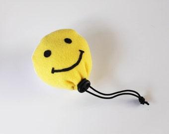 Large Smiley Face Chalk BALL - Rock Climbing Chalk Bag
