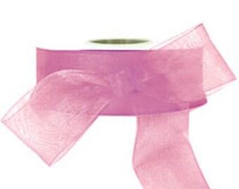 Mauve Purple Sheer Ribbon     (10-##-S-128)