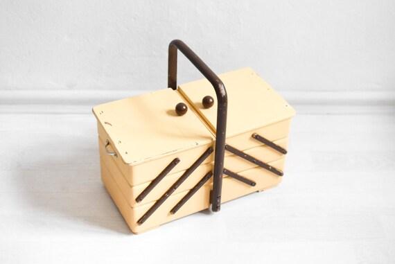 Rustic knitting basket sewing box knitting basket jewelry