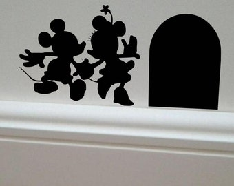 Minnie & Mickey Mouse wall decal, Minnie Mouse Decal, Child's room decal, Disney Decal, Mickey Mouse Decal
