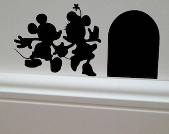 More colors. Minnie u0026 Mickey Mouse wall decal ... & Wall Decals u0026 Murals | Etsy