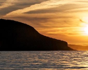 Sunset Fin Whale Blow DSC6211