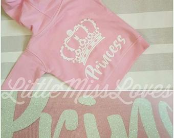 Princess glitter hoody