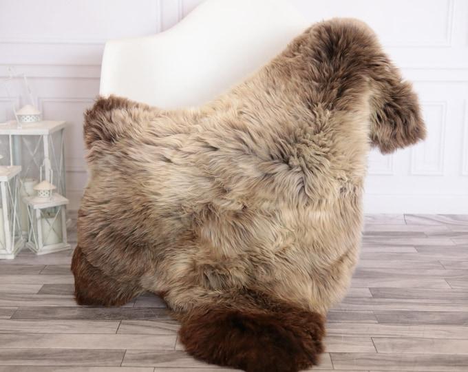 Sheepskin Rug | Real Sheepskin Rug | Shaggy Rug | Scandinavian Rug | | SCANDINAVIAN DECOR | Brown Sheepskin  #FEBHER6