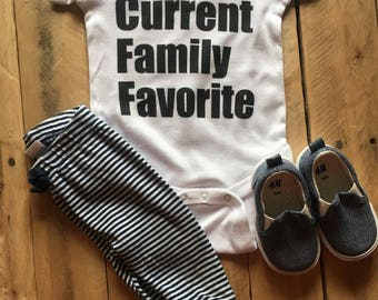 MORE COLORS Available Current Family Favorite ONESIE/ Baby Shower Gift/ Pregnancy Announcement