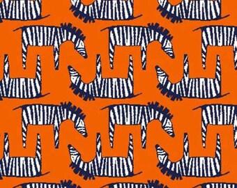 Fat Quarter Zebra Orange For The Trekking Collection By Michael Miller Fabrics