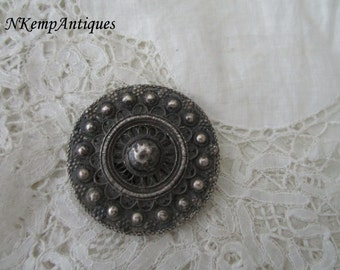 Antique silver buckle