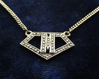 Vintage Initial M Necklace