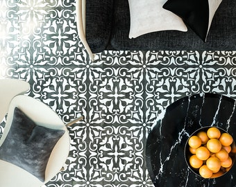 Tile Floor Stencil - TIle Stencil - Furniture Stencil - Wall Decor Stencil- Reusable Stencil for DIY decor - Floor Decor Stencil