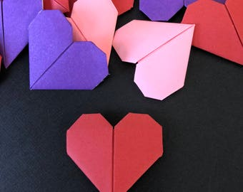 Origami Heart Decorations