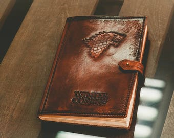 Gift for him Gift for the husband gift for boyfriend gift for men anniversary gift for her leather gift game of thrones leather notebook