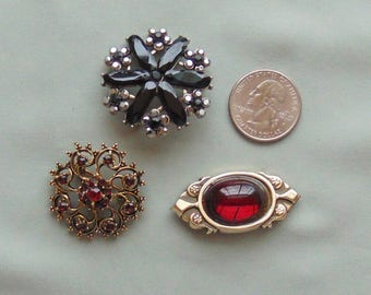 Lot 2 - Three Unsigned Vintage Pins - All in Excellent Condition