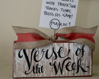 Verse Of The Week card holder - free shipping - scripture memory - homeschool - Sunday school